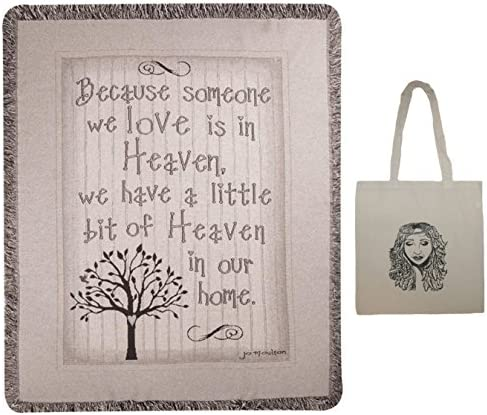 Heaven 50 x60 Inspirational Tapestry Throw Tote 2 Piece Gift Set Sympathy