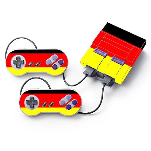 MightySkins Skin Compatible with Nintendo Super NES Classic - German Flag | Protective, Durable, and Unique Vinyl Decal wrap Cover | Easy to Apply, Remove, and Change Styles | Made in The USA