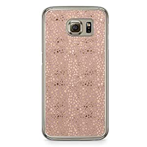Samsung Galaxy S6 Transparent Edge Phone Case Gold And Beige Phone Case Elegant Gold Pattern Samsung S6 Cover with Transparent Frame