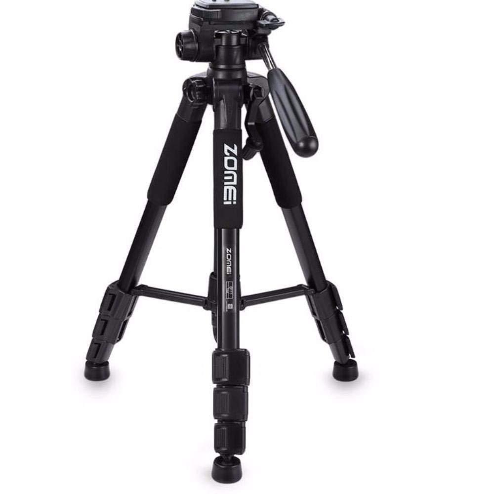 Q111 アルミニウム製カメラ三脚 パンヘッド 一眼レフカメラ用 (ブラック)   B07RP687B3