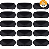 Hicarer Blindfold Eye Cover Sleep Mask for Games Party Sleeping Travel with Nose Pad and Adjustable Strap (Black)