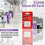 SCORDERS 512 GB Micro SD Card with Adapter