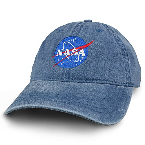 Armycrew NASA Insignia Embroidered 100% Cotton Washed Cap - Navy