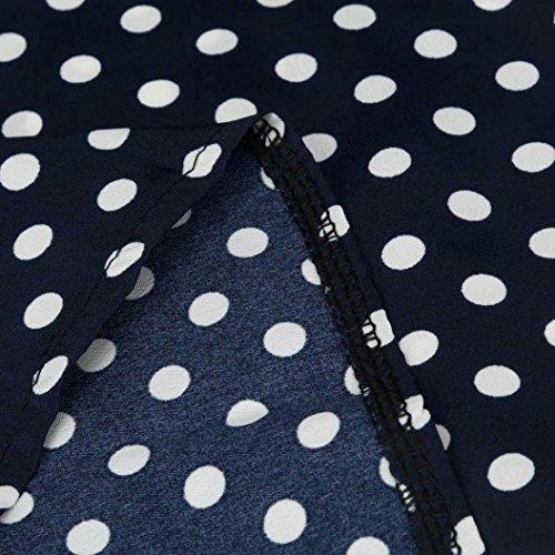 Keepfit Casual Blouses Polka Dots, Chiffon Long Sleeve Shirt Clothing Tops