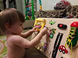 Busy board for toddler, Activity board, Wooden busy toys, Sensory board, Montessori kid toy, Busy board for autism, Learning toy, Busy book