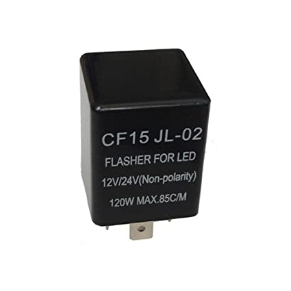 Fincos 3 Pin CF15 JL-02 Electronic Car Flasher Relay to Fix LED Light Turn Signal Hyper Flash Blinking Light: Amazon.com: Industrial & Scientific