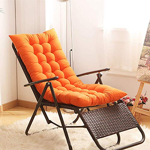 JanIST Quilted Tufted Lounge Chair Cushion, Thicken Chaise Cushions with Ties, Breathable Chair Pads for Garden Patio Indoor Outdoor-e 155x48x8cm