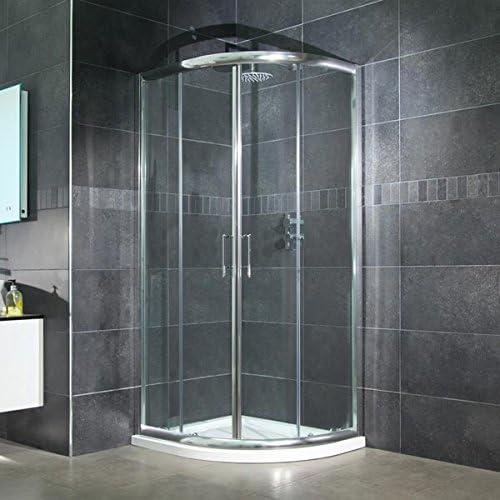 Mampara de ducha cabina de Walk In para puerta corredera 6 mm esquinera con 900 x 900 L unidad (reversible* Tamaño ajustable *) limpiar o cama de matrimonio entrada diseño de fácil