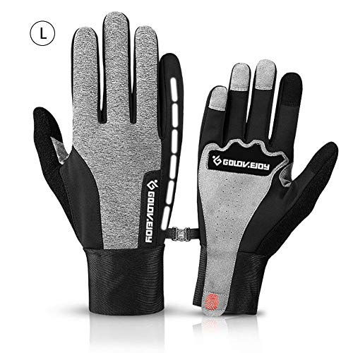 RED-EYE Gloves Mens Winter Touchscreen Windproof Waterproof Fleece Lined Outdoor Cycling Warm Non-Slip Running Mountaineering Gloves for Cycling and Running Winter Gloves Riding Gloves
