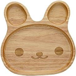 Geeklife® Cute Baby Rubber Wood PlateCreative Rabbit Pattern Kid Dinner DishSafe  sc 1 st  Amazon.com & Amazon.com: Wood - Dinner Plates / Plates: Home \u0026 Kitchen