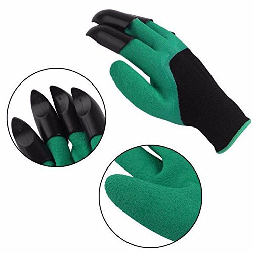 Gardener Gloves with Claws Great for Digging Weeding Seeding poking Safe for Rose Pruning Best Gardening Tool -Best Gift for Gardeners by Gaweb (Image #8)