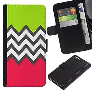 BearCase / Cuero de la tarjeta la carpeta del tirón Smartphone Slots Protección Holder /// Apple Iphone 6 PLUS 5.5 /// Modelo verde Rosa Blanco
