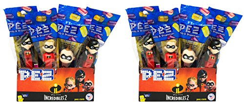 Pez Candy Incredibles 2 Candy Dispensers - Individually Wrapped - Great for Party Favors and Pez Collector's (24 Pack)