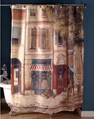 French Cafe De Paris Shower Curtain