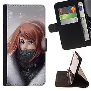 - Cute Girl In Snow/ Personalizada del estilo del dise???¡¯???¡Ào de la PU Caso de encargo del cuero del tir???¡¯????n del s - Cao - For Sony Xperia Z1 L3