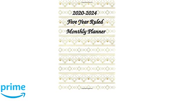2020-2024 Five Year Ruled Monthly Planner: 5x8 Inches Wallet ...