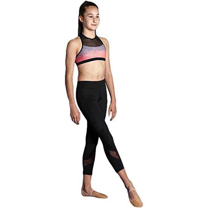 7df16f722e5bc Amazon.com: Bloch Kids Girl's Mesh Insert 7/8 Leggings (Little Kids ...