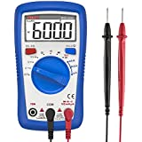 Etekcity Digital Multimeter, MSR-A600 Electrical Volt Amp Ohm Voltage Tester Auto-Ranging Multimeters voltmeter Ammeter with AC/DC Current Resistance Continuity Capacitance and REL Diode Test Meter