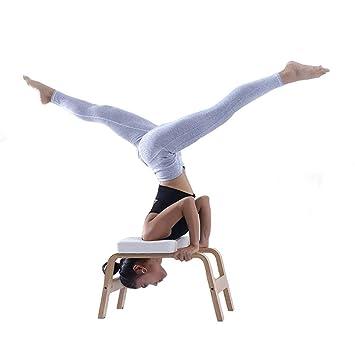 Hazjje-zatr061 Taburete invertido de yoga de madera Silla de ...