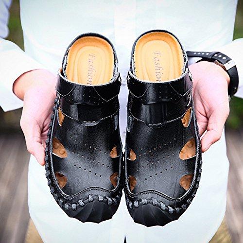 Da Outdoor Pelle Pantofole Moda Hope Da Scarpe Escursionismo Trekking Spiaggia Scarpe Da Scarpe Black In Comode Da Uomo Yw4Sq5