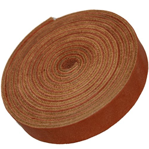 TOFL Leather Strap Golden Tan 5/8 Inch Wide and 72 Inches Long ()