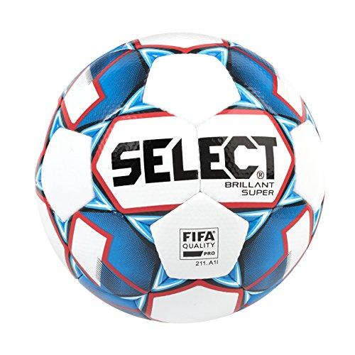 (Select Brillant Super Soccer Ball, White/Blue/Red, Size 5)