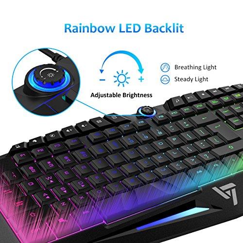 51ACxsC7qSL - VicTsing Rainbow LED Wired Gaming Keyboard¡
