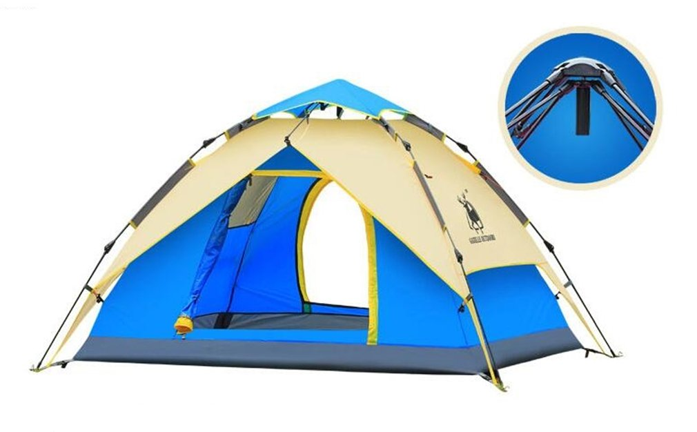 TTYY Hydraulisches automatisches Zelt im Freien wasserdicht Verwendbar für 3  4 Leute, die Feld-Überlebens-Frühlings-Ausflug kampieren