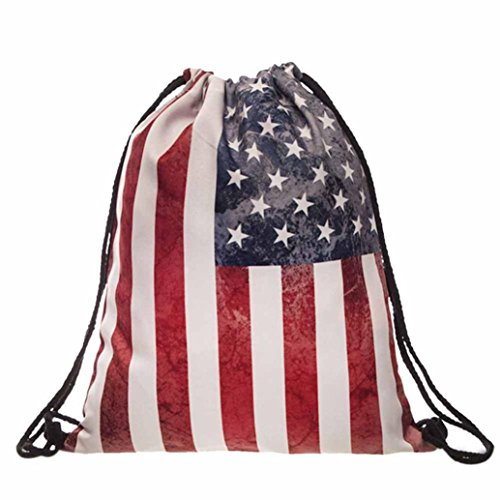 Egmy2016-Women-Men-American-Flag-Printed-Drawstring-Pouch-Backpack-Shoulder-Bag