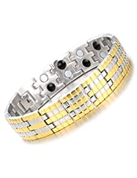 """Halukakah """"GOLDEN AGE"""" Men's Magnetic Therapy Bracelet with Magnets Pain Relief for Arthritis and Carpal Tunnel"""