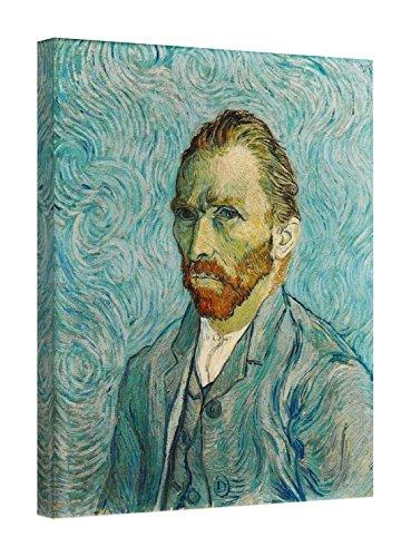 Easy Art Prints Vincent Van Gogh's 'Self-Portrait, 1889' Premium Canvas Art 10 x 8