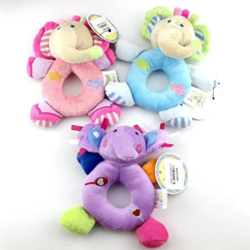 5c1198227f32 3 pcs Baby Hand Bell Toy Cute Model Catoon Doll Soft Cutie Rattles ...