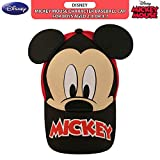 Disney Boys Mickey Mouse Baseball Cap with 3D Ears, Red/Black, Age 2-4