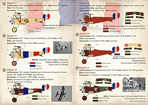 Amazon.com: calcomanía para avión francés Nieuport 10, 11 ...