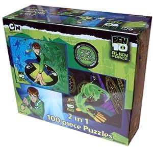 Pressman Toy International - Ben 10 Alien Force - Puzzle de 100 piezas 2 en 1