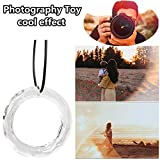 Makaor Fun Photography Toy,Chandelier Glass Crystals Handing Ring, Lamp Prisms Parts Drops Pendant to Make Creative Cool Effect with Photography