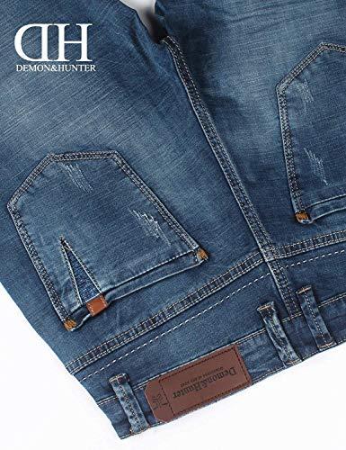 Di Slim Denim Blau Casual Jeans Da Blu In Eleganti Uomo Con Giovane Pantaloni Fit qPIBE