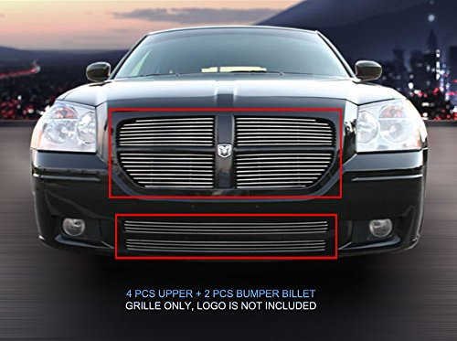 Fedar 05-07 Dodge Magnum Replacement Combo Billet Grille Grill 6-pc Set-Polished #320071072
