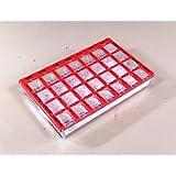 ドセット・メディ(赤)DOSETT(スライド開閉式・錠剤分配型・一週間用・携帯ピルケース・スウェーデン製)