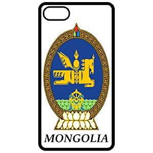 Mongolia - Coat Of Arms Flag Emblem Black Apple Iphone 5 Cell Phone Case - Cover