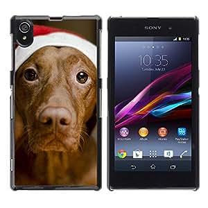VORTEX ACCESSORY Hard Protective Case Skin Cover - vizsla golden Christmas dog canine - Sony Xperia Z1 L39 C6902 C6903 C6906 C6916 C6943