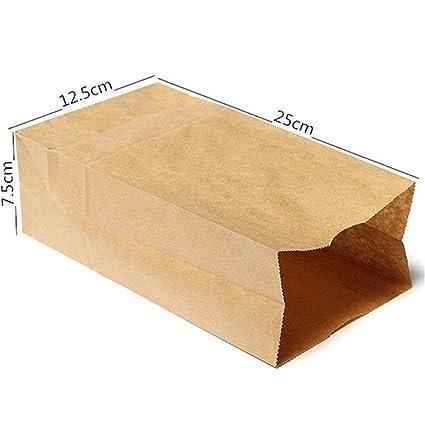 Cozywind - Bolsas de papel kraft para alimentos, 10 unidades, color marrón