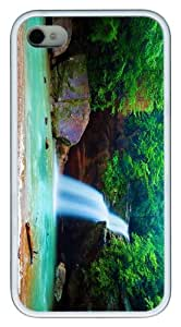 slim cases waterfall steam TPU White Case for iphone 4/4S