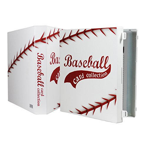 (UniKeep Baseball Trading Card Collection Binder - Holds up to 180 Standard Size Cards (2 per Pocket) with Included EnvyPak Platinum Series Pages - Additional Pages Can Be Added)
