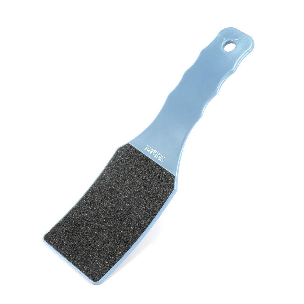 Winbang De doble cara del cuidado de la herramienta Papel de lija escofina pie pedicura para el hogar, de pl¨ ¢ stico azul de plš¢stico azul