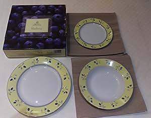 Royal Doulton Blueberry Beautiful Plates Dinnerware set