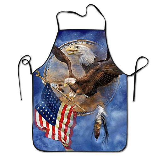 startoronto American Flag Eagle Aprons For Women/men Lightweight Grilling Short Cooking Funny Chef Apron by startoronto