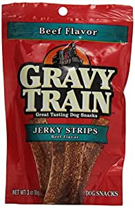 BIG HEART PET BRANDS 513670 Gravy Train Jerky Food, 3-Ounce