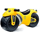deAO Ride On Toddlers Balance Motorbike – Pedal Free Bike for Children with Cute Design YELLOW