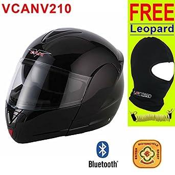 V-CAN V210 BLUETOOTH BLINC 3 motocicleta casco de moto